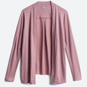 Stitchfix Lavender Woven Back Knit Cardigan